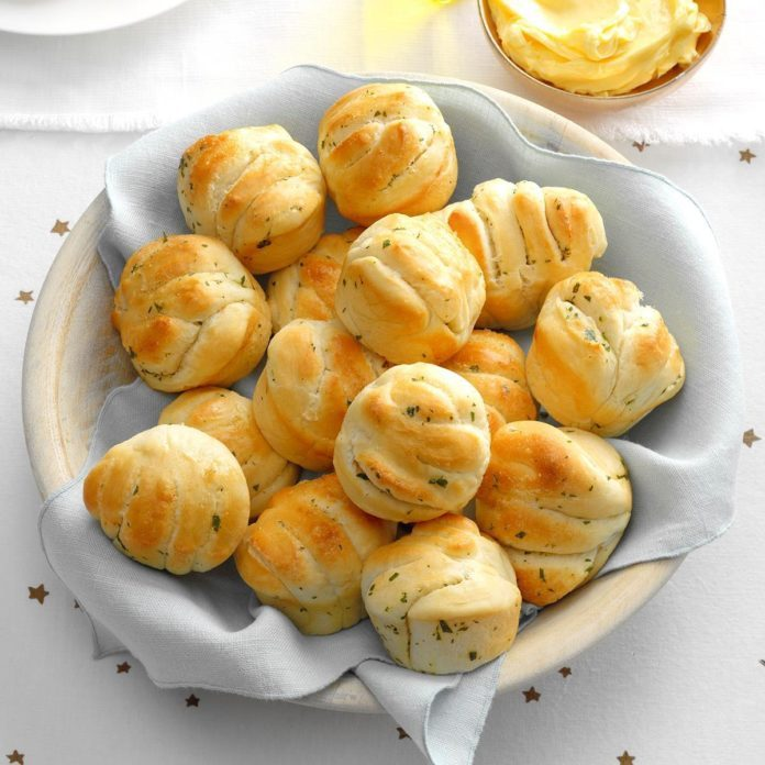 Herbed Accordion Dinner Rolls