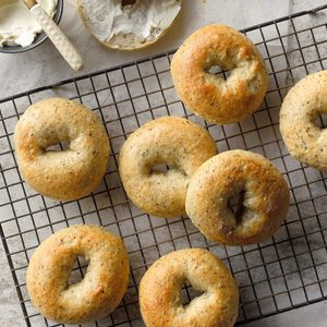 Herbed Onion Bagels