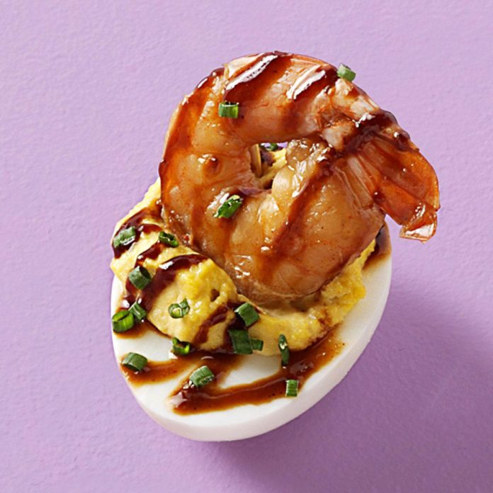 Hoisin-It-Nice Deviled Eggs