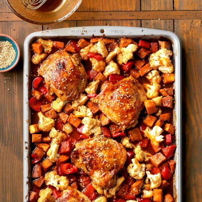 Hoisin Sriracha Sheet-Pan Chicken