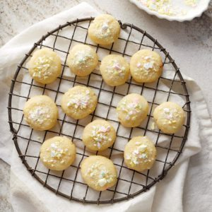 Holiday Butter Mint Cookies