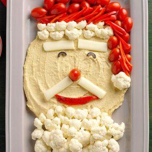 Holiday Hummus and Veggie Santa Tray