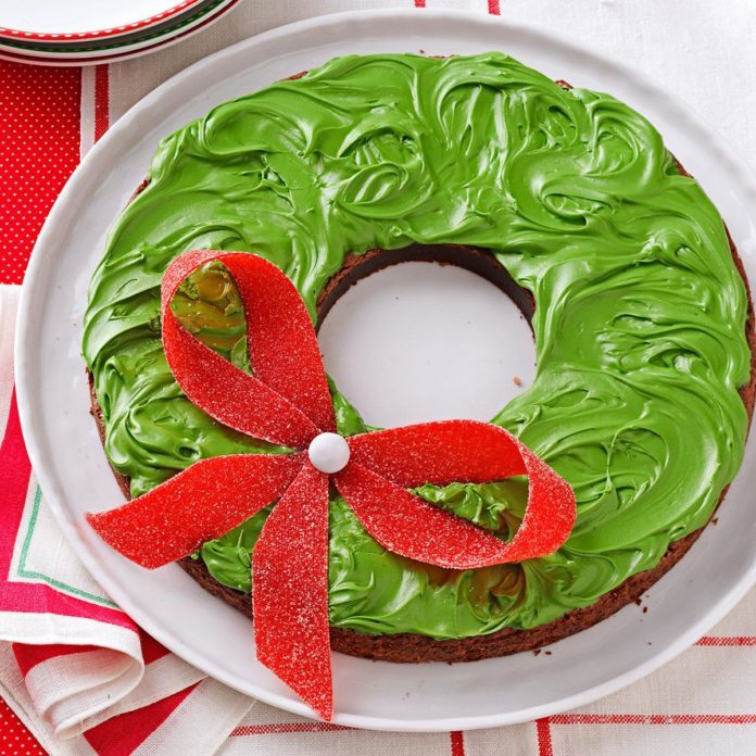 Holiday Wreath Brownies