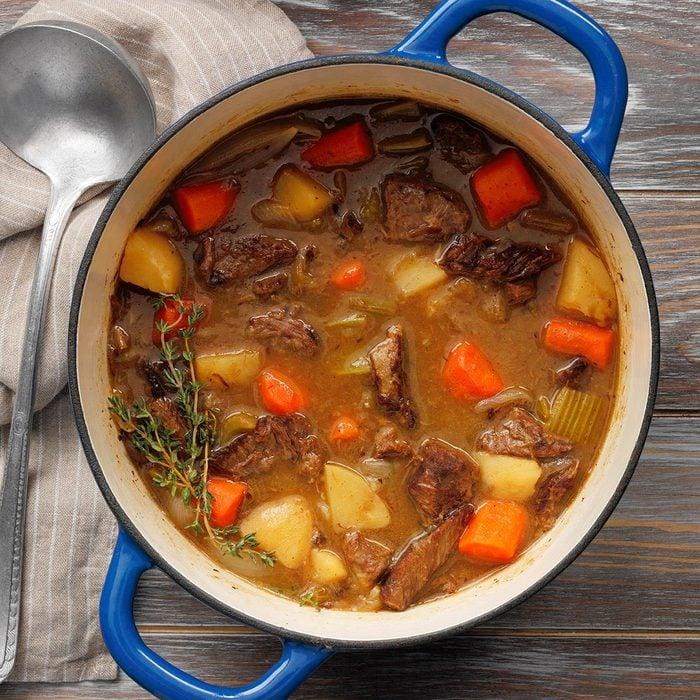 Homemade Apple Cider Beef Stew