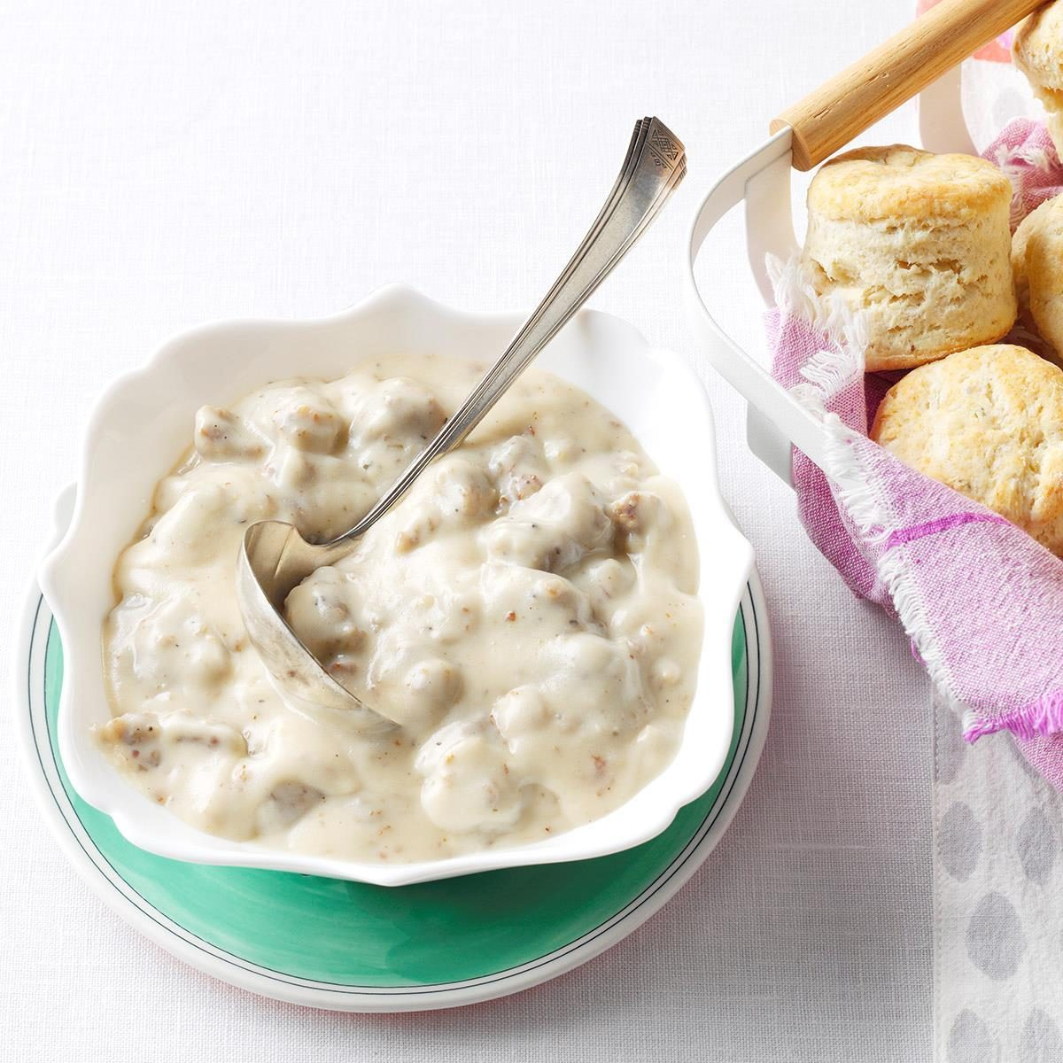 Homemade Biscuits Maple Sausage Gravy Recipe How To Make It Taste Of Home