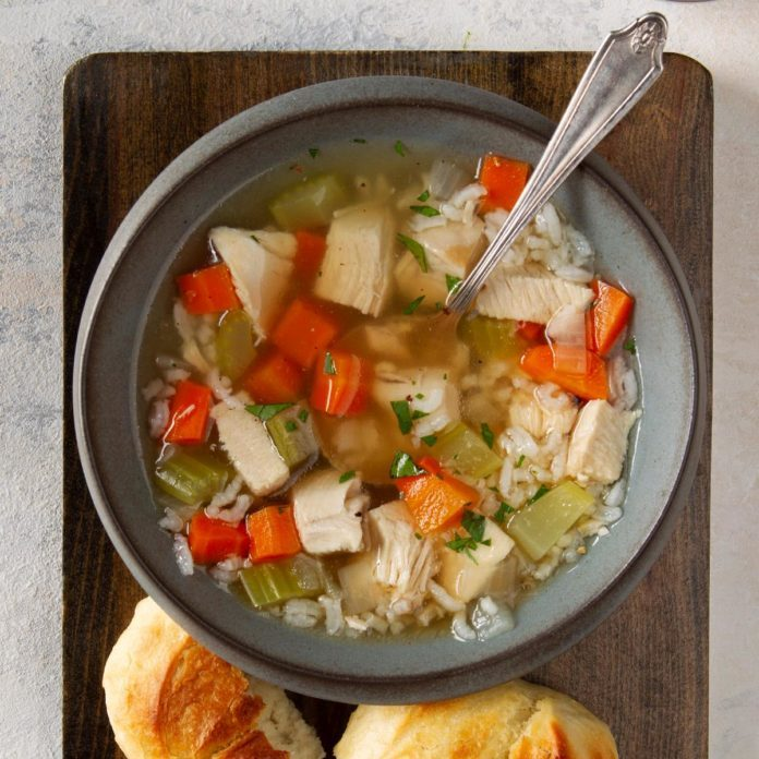 Homemade Chicken and Rice Soup