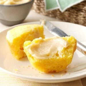 Homemade Corn Muffins with Honey Butter