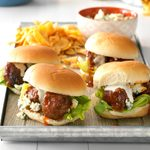 Honey Buffalo Meatball Sliders