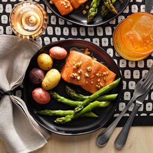 Honey-Dijon Salmon and Asparagus
