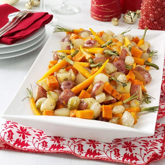 Honey-Orange Winter Vegetable Medley