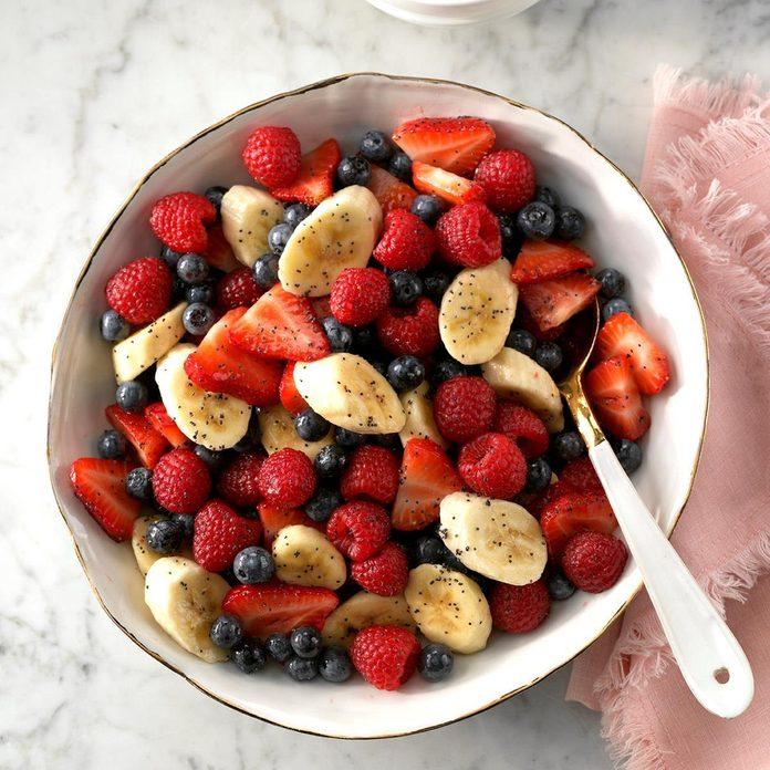 Honey Poppy Seed Fruit Salad
