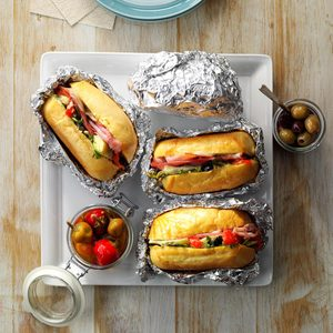 Hot Antipasto Subs