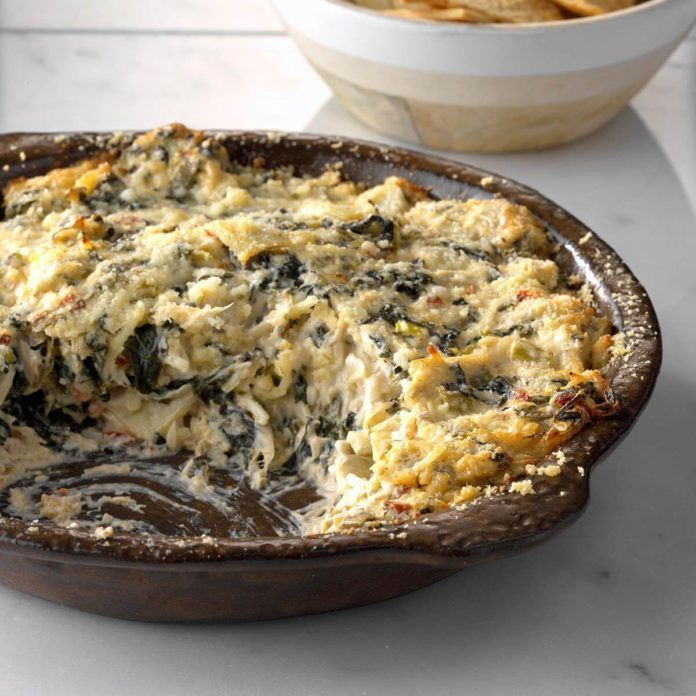 Hot Chipotle Spinach and Artichoke Dip with Lime