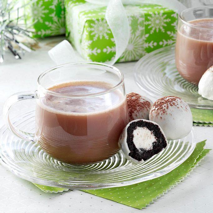 Hot Chocolate Cake Balls