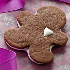 Hot Chocolate Linzer Cookies