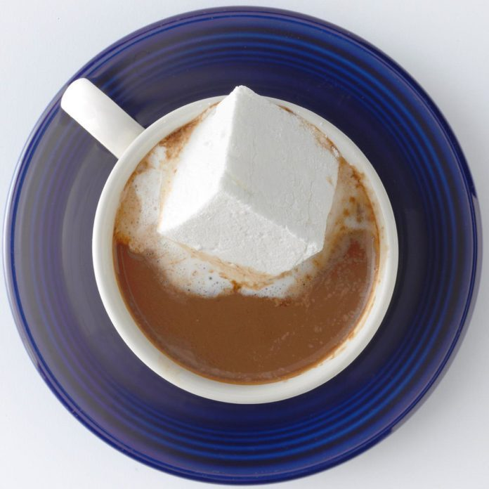 A cup of Hot Cocoa with Almond Milk