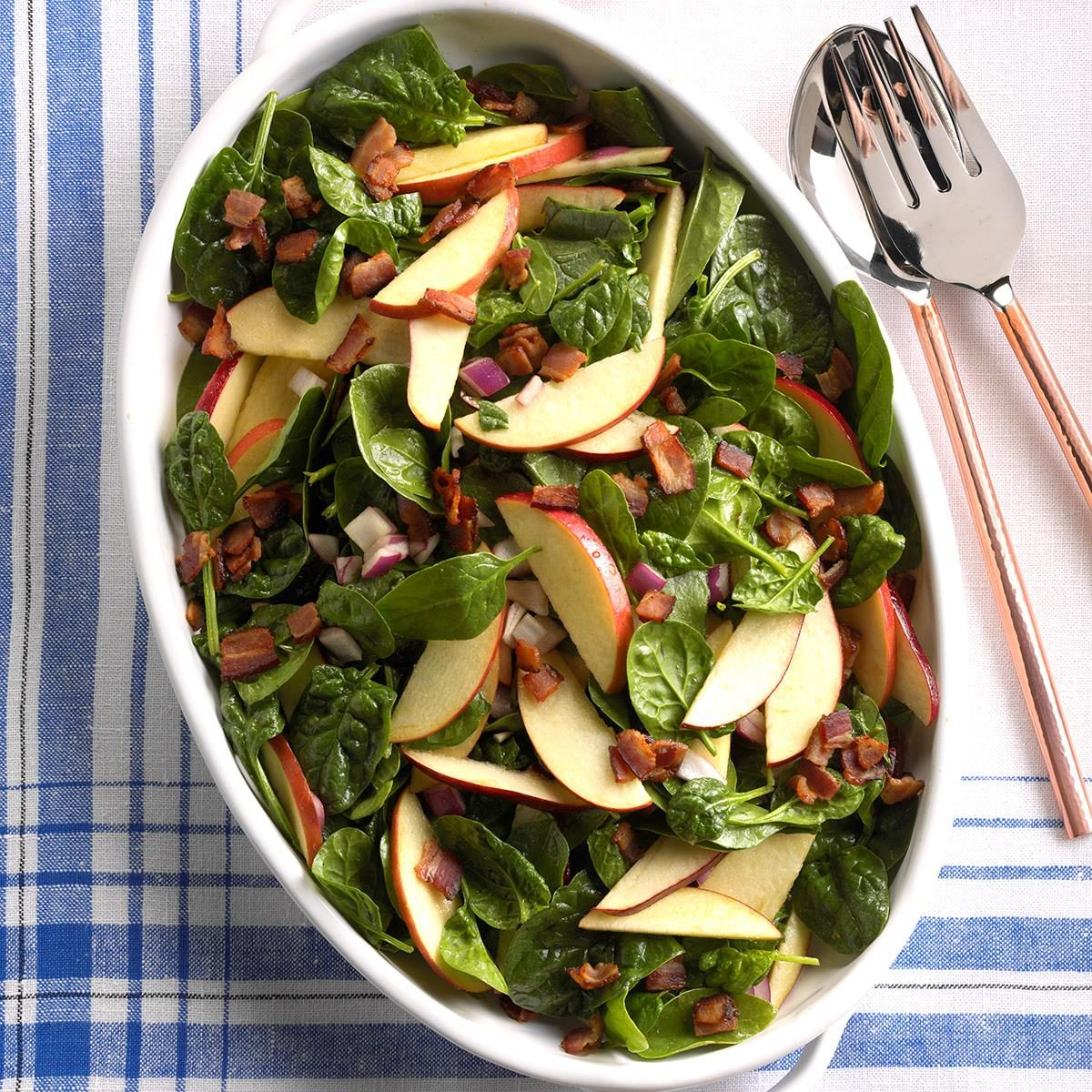 Hot Spinach Apple Salad