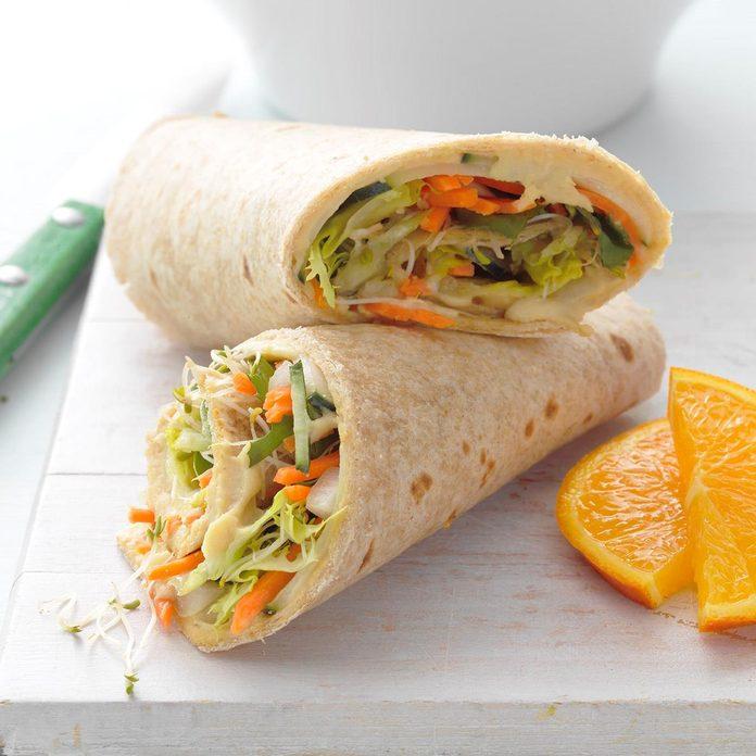 Hummus & Veggie Wrap-Up