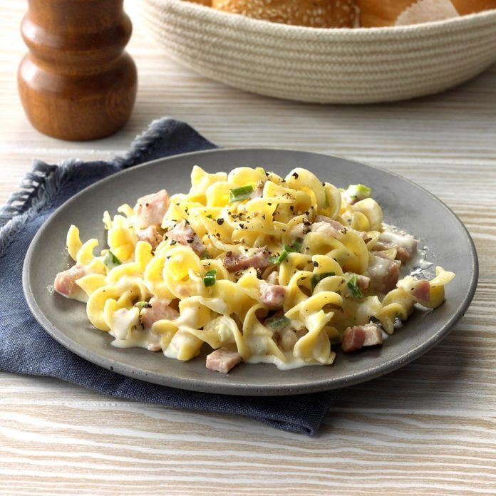 Hurry-Up Ham N Noodles