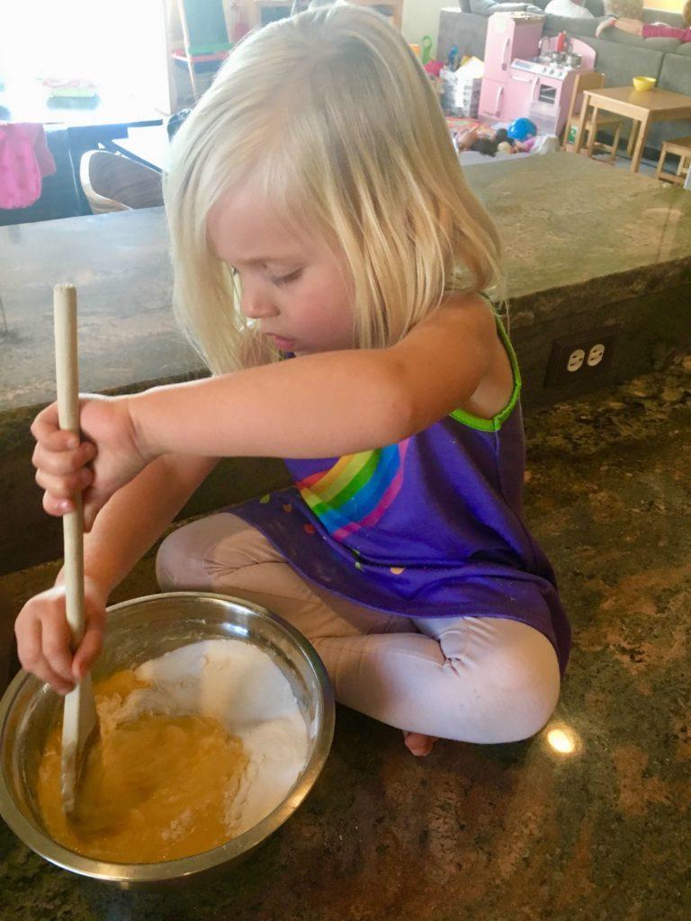cake, baking, girl, children