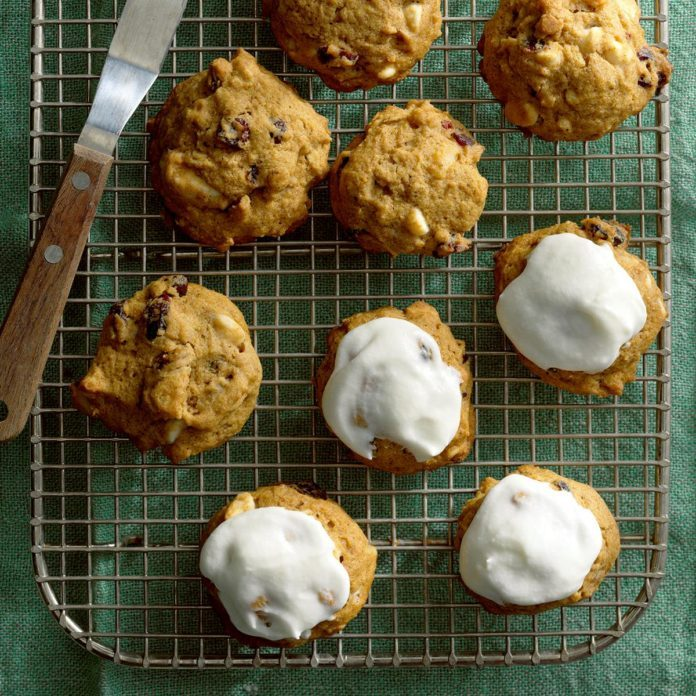 Iced Pumpkin Cookies