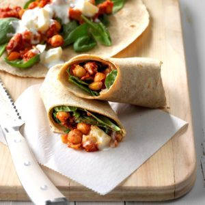 Indian Spiced Chickpea Wraps