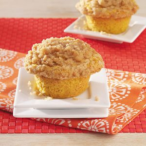 Isaiah's Pumpkin Muffins with Crumble Topping