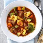 Italian Beef Tortellini Stew
