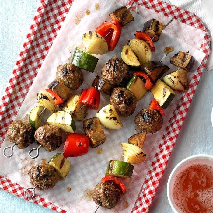 Italian Meatball Kabobs