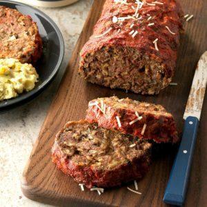 Italian Mushroom Meat Loaf