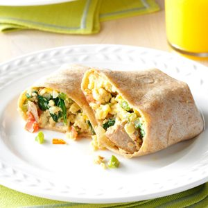 Italian Sausage Breakfast Wraps