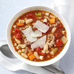 Italian Sausage Minestrone for Two