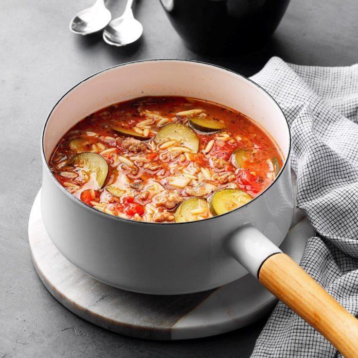 Italian Sausage Orzo Soup