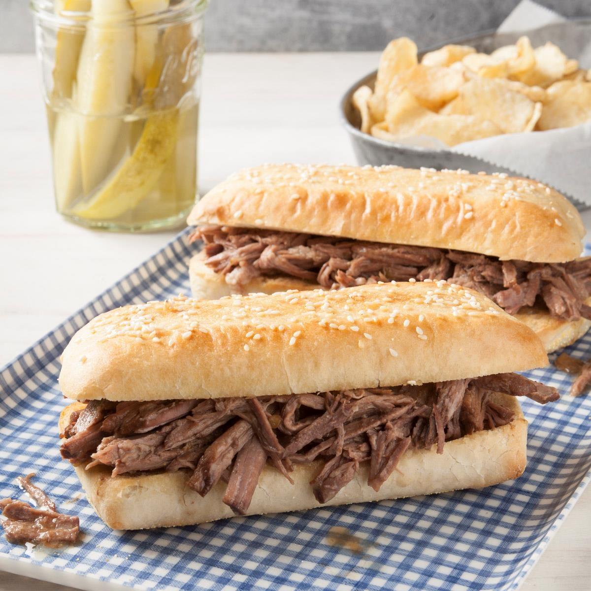 Italian Shredded Beef Sandwiches