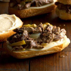 Italian Sirloin Beef Sandwiches