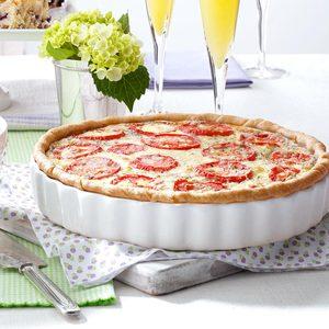 Italian Tomato Onion Quiche
