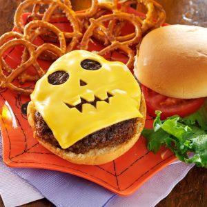Jack-o'-Lantern Burgers