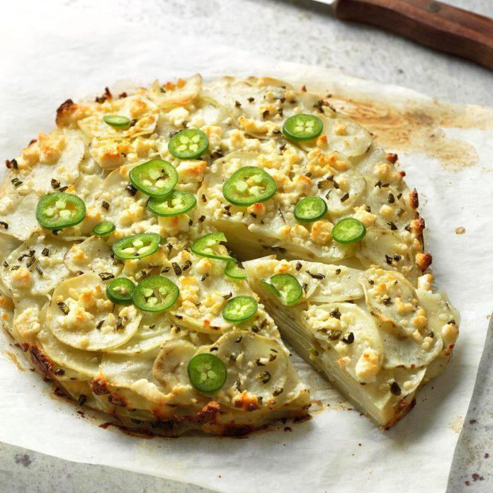 Jalapeno & Cotija Cheese Potato Stack Pie