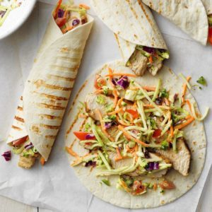 Jamaican Jerk Turkey Wraps