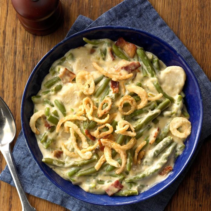 Jazzed-Up Green Bean Casserole