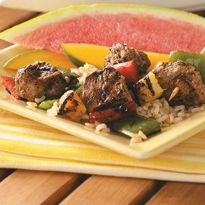 Jerk Pork & Pineapple Kabobs