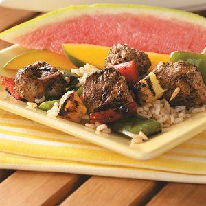 Jerk Pork & Pineapple Kabobs