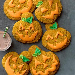 Jumbo Jack-o'-Lantern Cookies