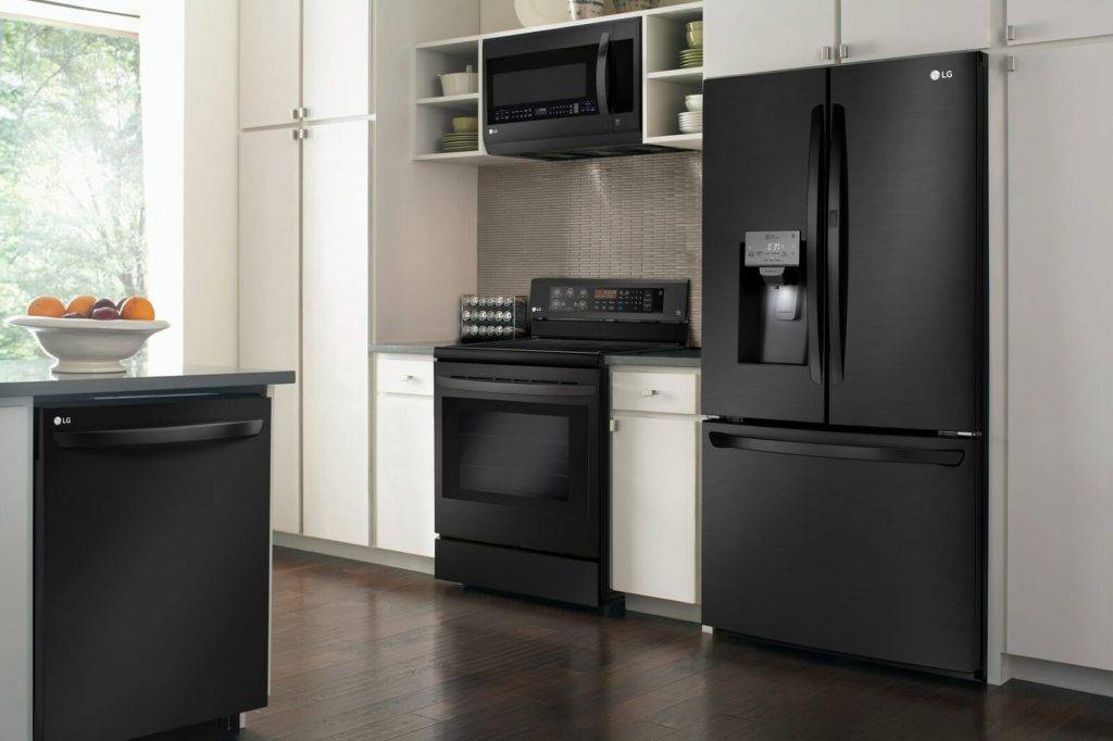 black appliances kitchen ideas you to check out these new matte black stainless 16405