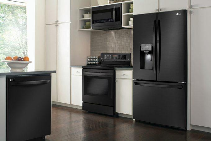 "LG's new ""Matte Black Stainless Steel"" finish"