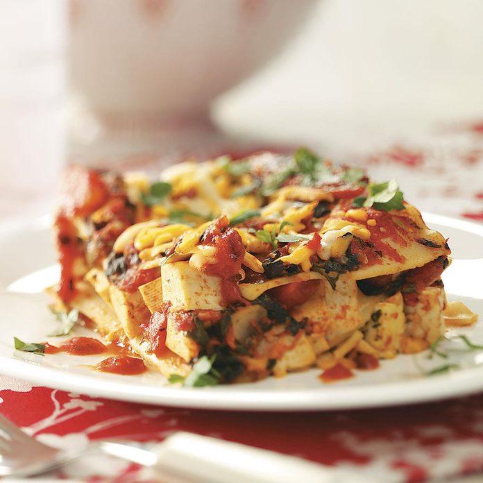 Lactose-Free Spinach Lasagna