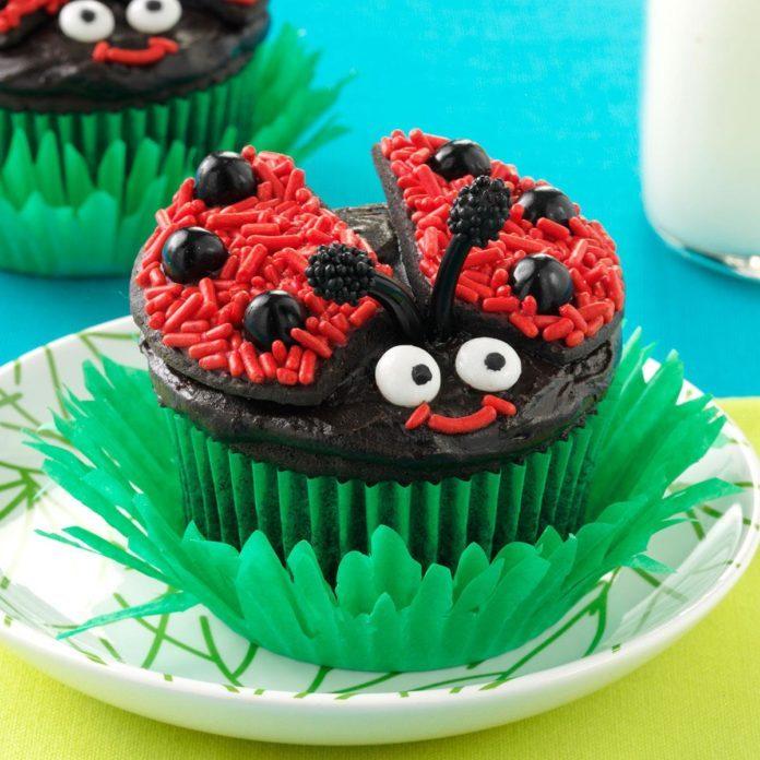 Lady Bug Chocolate Cupcakes