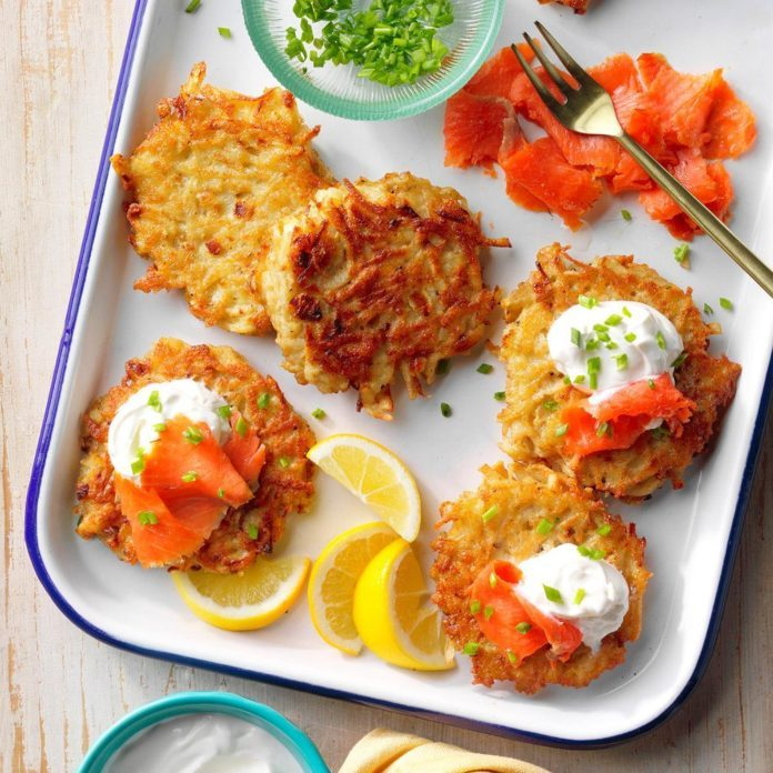 Nonstick Skillet: Latkes and Lox