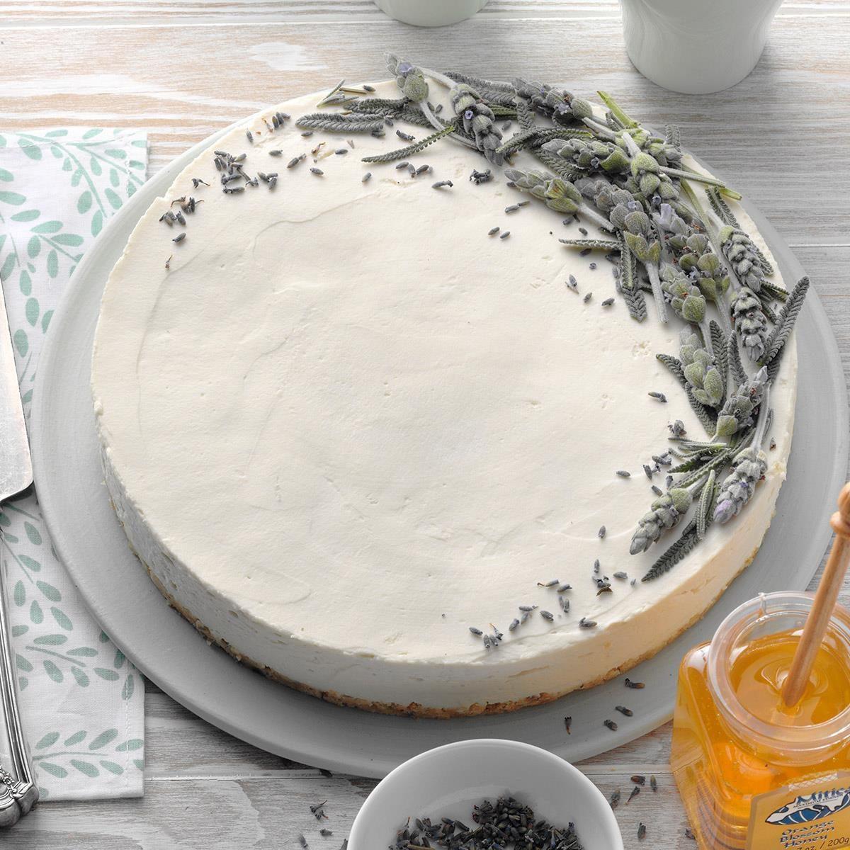 Lavender Flowers: Lavender Honey Cheesecake