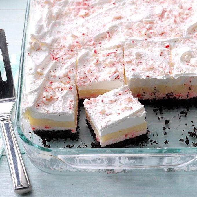 Layered Candy Cane Dessert